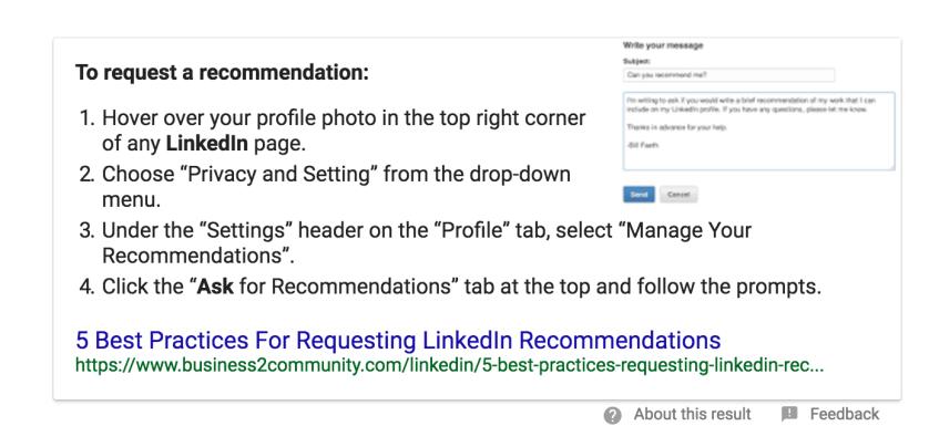 Recommendtations